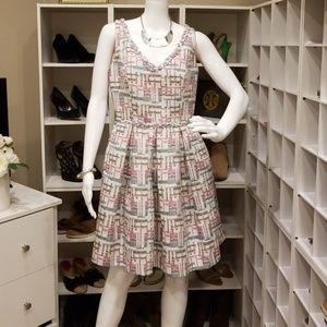 TRINA TURK THICK TEXTURED PLEATED DRESS 4